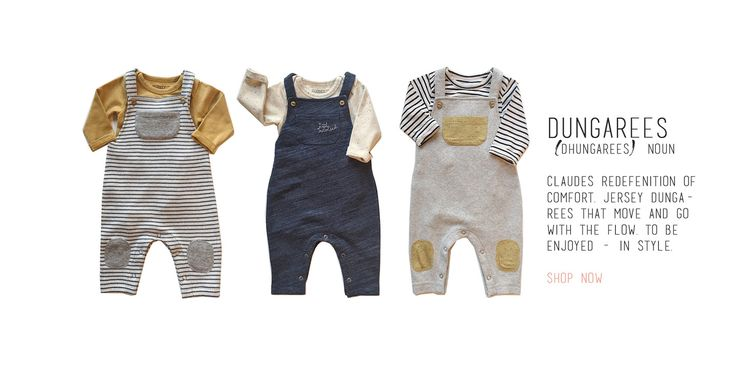 Claude and Co; For Little Individuals. Online concept store for kids with an eclectic mix of modern design lead brands from the UK, Europe and Scandinavia. Own brand clothing Jersey Dungarees - SHOP