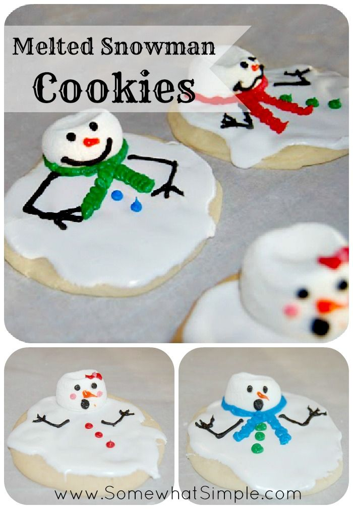 Cutest Cookies Ever!!! Melted Snowman Cookies from www.SomewhatSimple.com #snowman #cookies - I saw prepacked mixes for these at the store, but did not want to pay the big price for them. Now, I can make them myself!