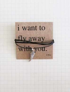 I want to fly away with you.