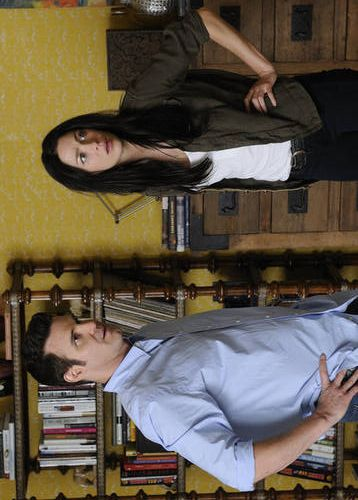 Yep, Artifact turned us sideways-Joanne Kelly and Eddie McClintock, Warehouse 13
