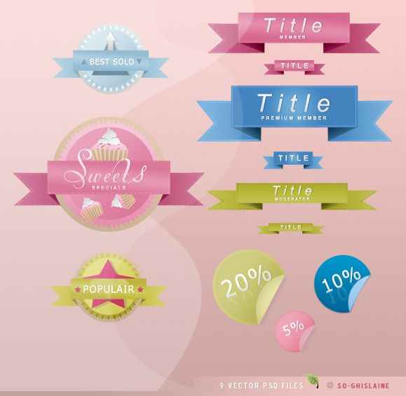 PSD files - Web two by So-ghislaine