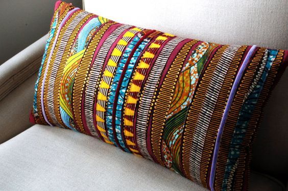 African print cushion will add your home uniqueness and colour.