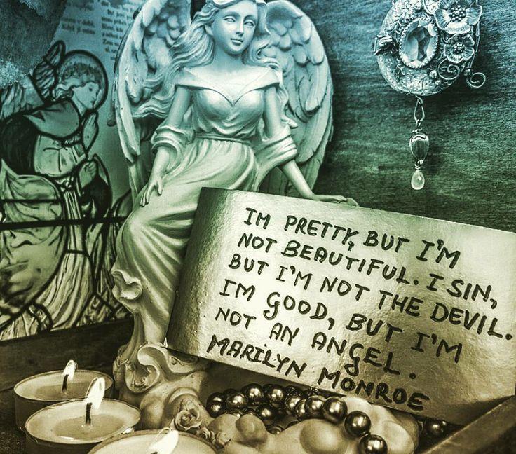 Im pretty, but I'm not beautiful. I sin, but I'm not the devil. Im good, but I'm not an angel. «marilyn monroe» #motivation #newstart #whynot #frcime #letsjump #everymonday