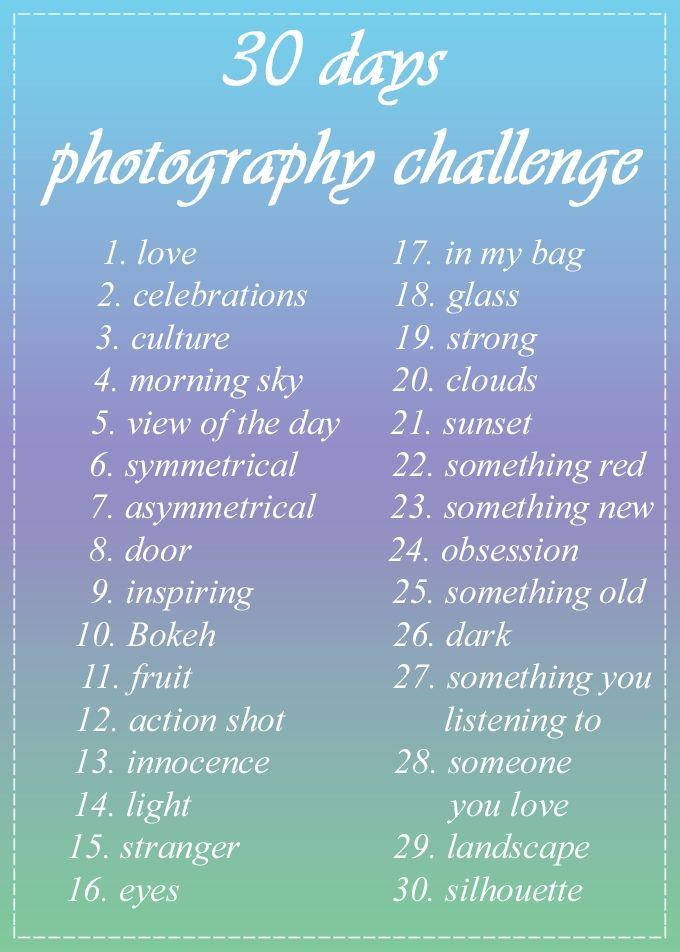 Foto Challenge Ideen