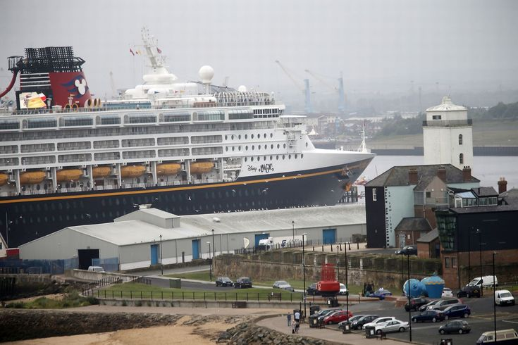 The Disney Magic cruise ship heads past the Fish Quay in North Shields |  Disney | Disney Cruise Ship | Disney Magic | North Shields | Cruise Ship | North East