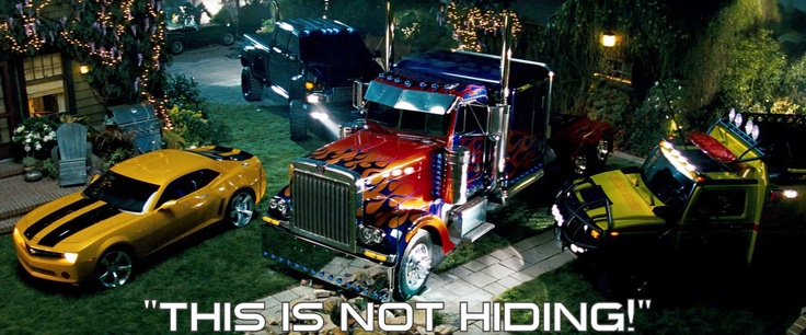 """This is my back yard, not a truck stop!!!!"" -Sam (Transformers) (Question...... Where's Jazz?  :/)"