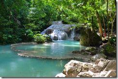 Le Parc National d'Erawan et ses cascades sur 7 niveaux