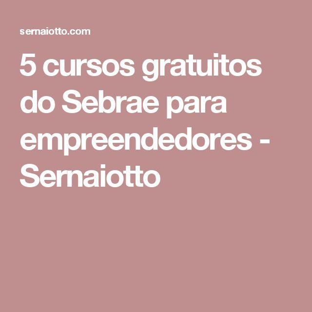 5 cursos gratuitos do Sebrae para empreendedores - Sernaiotto
