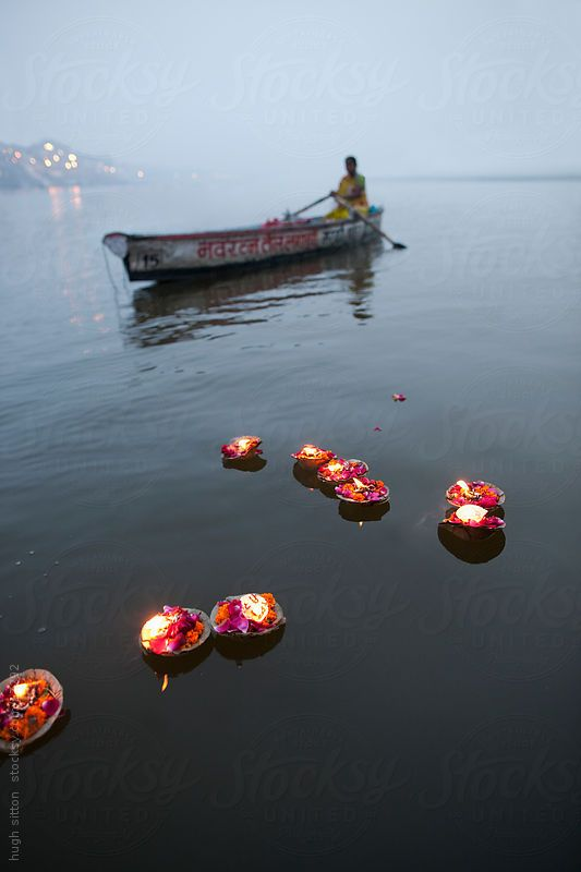 Boat on the Ganges. Varanasi. India. by Hugh Sitton for Stocksy United
