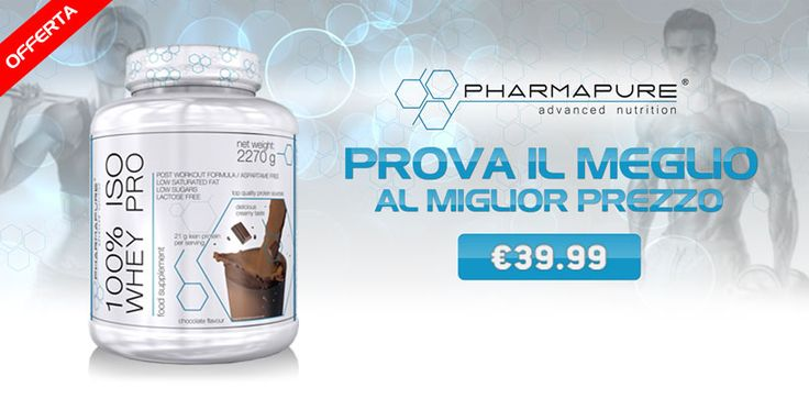 💪 PROTEINE ISOLATE #Pharmapure In offerta a tempo limitato, le #Proteine da 2270g con 0 zuccheri e grassi più vendute su Muscle Nutrition! Info Prodotto: https://goo.gl/OrU87t