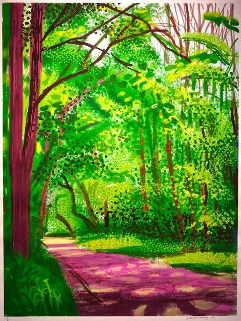 David Hockney, The Arrival of Spring in Woldgate, 2011 on ArtStack #david-hockney #art