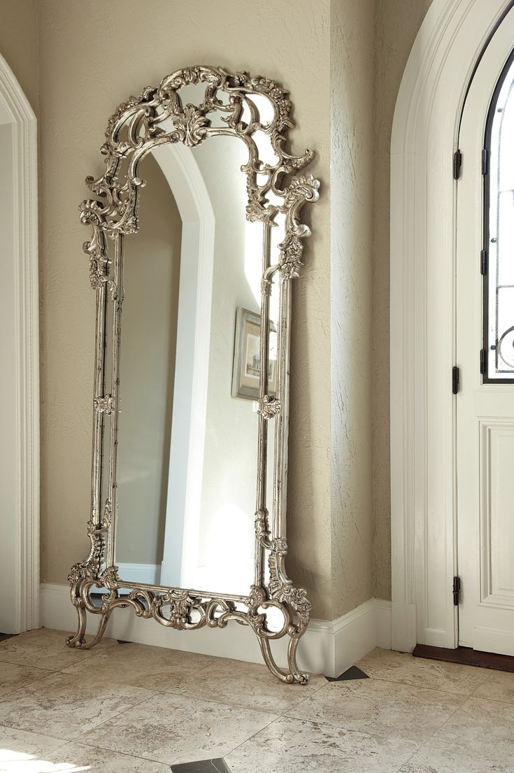 562 best decorating with mirrors images on pinterest for Decorative floor length mirrors