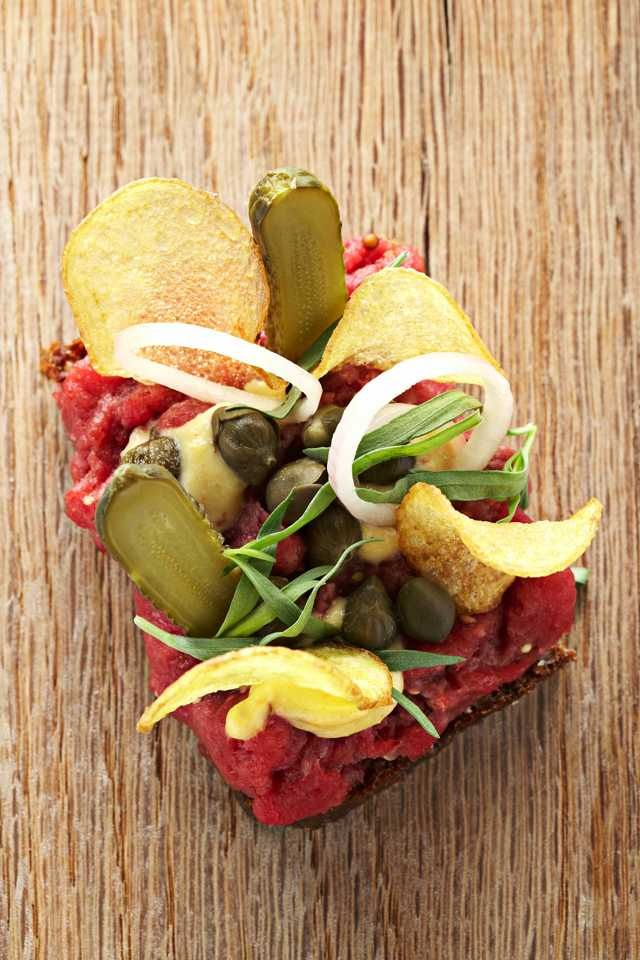 Aamanns tartar + ryebread + capers + gherkins #smørrebrød #dansk #cuisine - Loved by @denmarkhouse