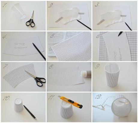 DIY Lichterkette mit Bechern
