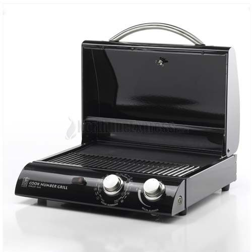 20'' Portable Black Porcelain Electric BBQ Grill with Vinyl Cover - From backyards to balconies - RVs to boat docks - just plug it in and our patented technology produces all the heat you need to grill, sear, roast or bake. Mini-size. Megaperformance. Pays for itself - fast! Green Grilling is Red-Hot! At a cost of just 10-15 cents per hour, this grill will conserve energy but still cooks powerfully, delivering fabulous results.