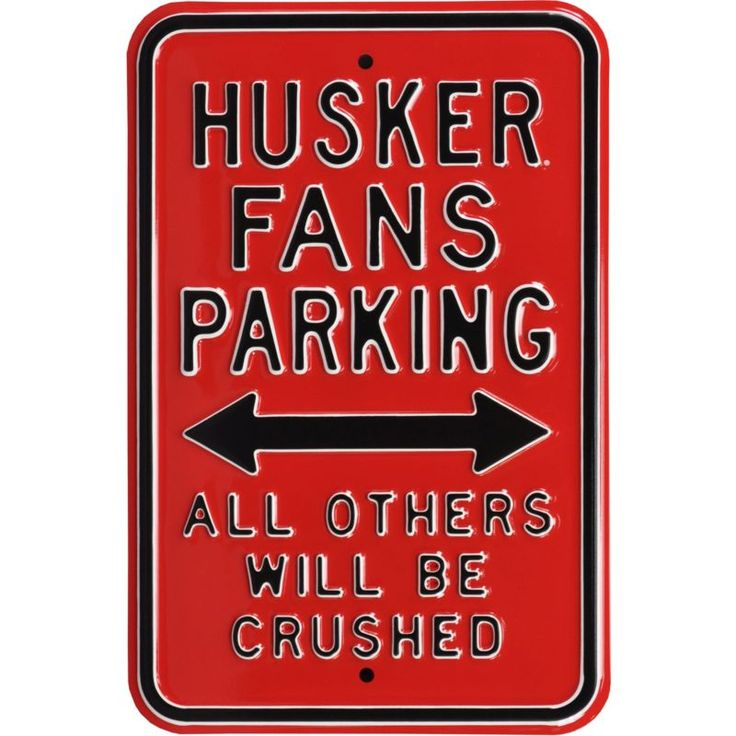 Authentic Street Signs Nebraska Cornhuskers Parking Sign, Multi