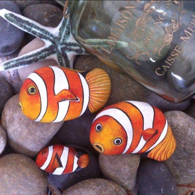 #balık #fish #rockpainting #dekoratifboyama #dekor #hediye #gift…