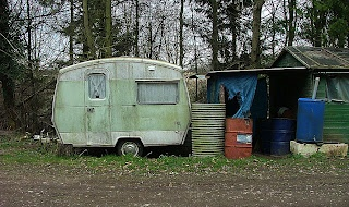 This retro caravan could be lovely cleaned up
