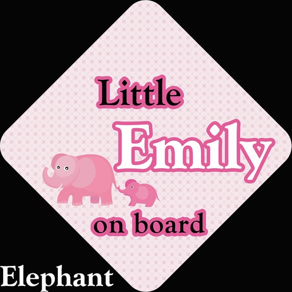 Personalized Baby on Board Car Sign by IndigoMamaDesigns on Etsy, $10.00