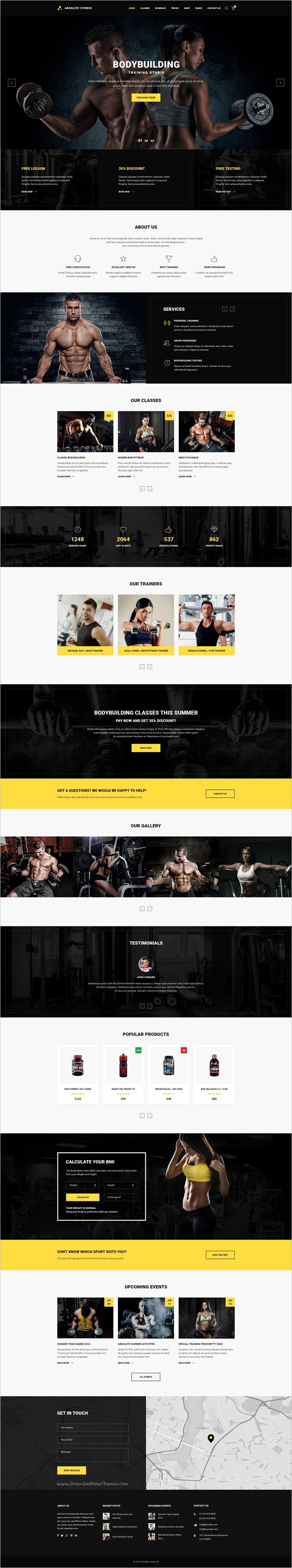 fantastic personal trainer website template gift professional