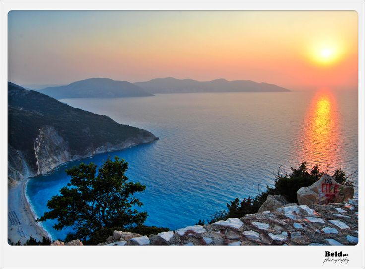 I wanna share with you all some amazing places on this wild island of Kefalonia. Here's Myrthos Beach at sunset