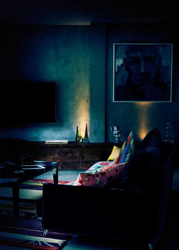 Dark Living Room At Night 126 best trend/ going dark images on pinterest | colors, interior