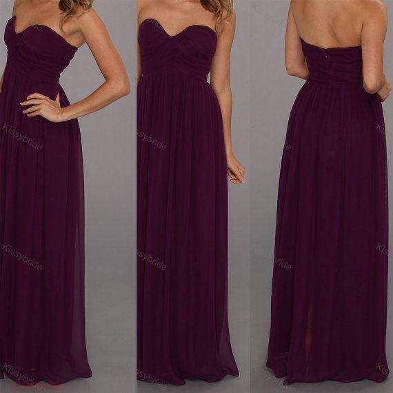 Purple bridesmaid dresses long evening dress Bridesmaid Dresses