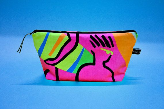 Trousse de Toilette Surf Rose Fluo 80s 90s