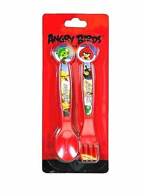 Rovio Angry Birds Red Flatware 2 forks and 2 spoons-Angry Birds Flatware-New!