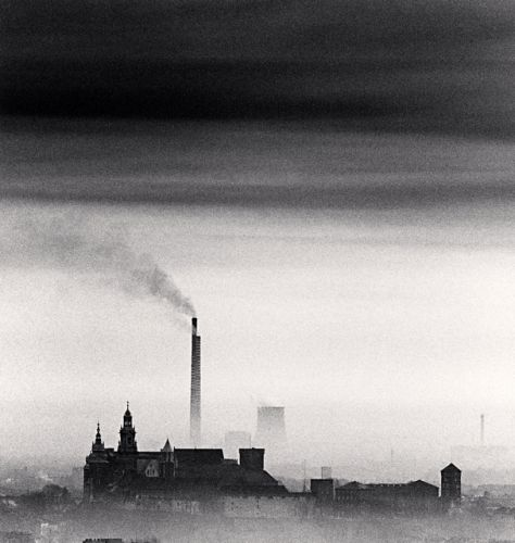 Micheal Kenna - Artistic Photography - Wawel Castle and Chimneys, Cracow, Poland, 1992.