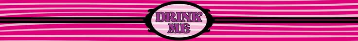 Drink Me Bottle label - Cheshire Style - Alice in Wonderland - Disney-inspired Party Printable ~~~~~~~~~ Size: (2550x300px). This label is designed to be printed at 8.5 x 1 inches. Simply print out and stick around your drink bottle for instant Wonderland fun! Clipart belongs to Disney. Font is Storybook www.dafont.com/storybook.font This label is **Personal use only - NOT for sale/resale/profit**