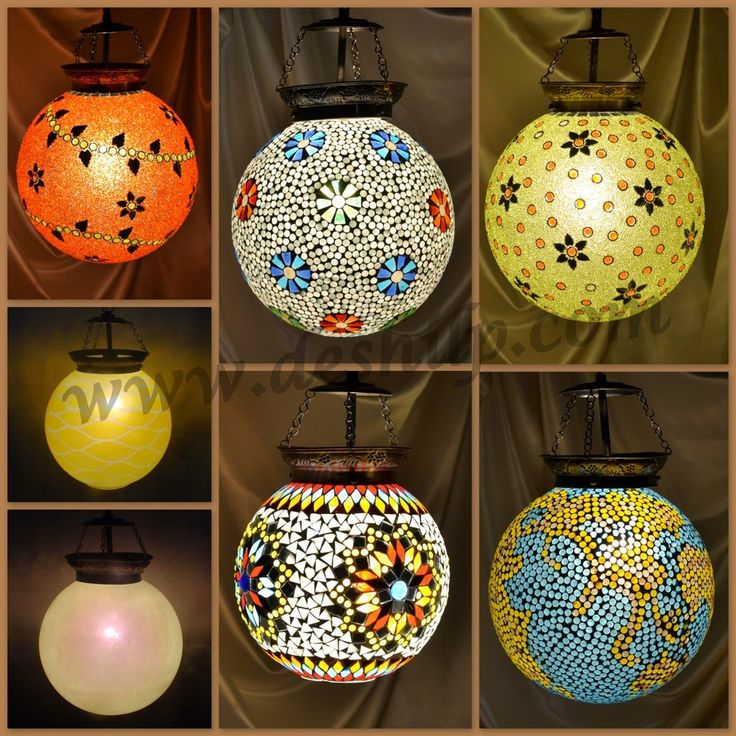 Glass Ball Hanging.............. This is a designer mosaic hanging lamp shade with beautiful colour combination, Each & every part is hand-crafted by our very expert artisans. This will give very beautiful & Aesthetic decor to your home.Also ideal for gifting to your loved ones.Each & every part of this product is beautifully hand crafted. @........http://www.deshilp.in/
