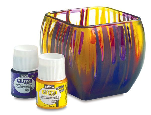 Pebeo vitrea 160 blick art materials you can make vases for What can you paint glass with