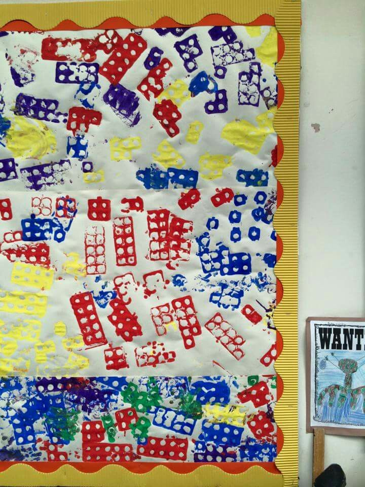 Painting with numicon backing paper