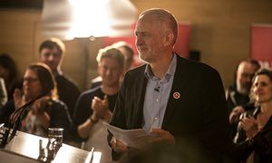 """Corbyn called for the 2.4 million young people missing from the UK's electoral register to sign up. He said barely 40% of 18 to 24-year olds turn out to vote.  """"The Conservatives are more than happy with this state of affairs. Apathy and resignation will secure them seats on election day,"""" he said."""