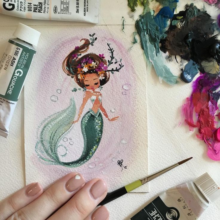 «I'm putting a few original gouache paintings in my Etsy shop this morning around 9:30 am PST. I'm going to try to do this twice a month to give people the…»