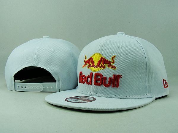 New Era Red Bull Snapback Hats Cap White