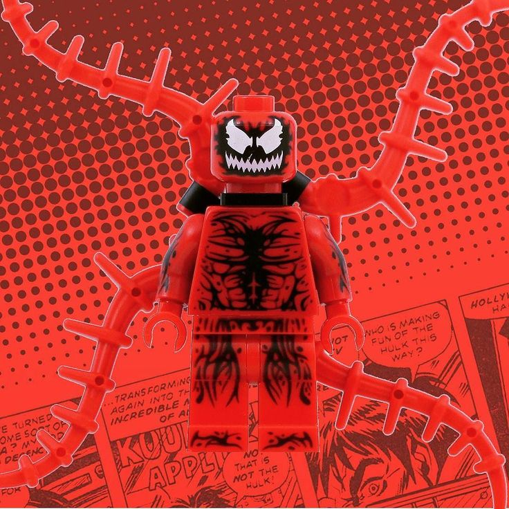 I am the ultimate insanity! I am CARNAGE! #minifigs #minifigures #minifigbox #welovewhatyoubuild #minifigshop #MOC #LEGO #toygroup #toysforlife #toptoyphotos_Lego #fantasy #spiderman #marvel #superheroes #venom #supervillain #scary #crazy #cruel #nomercy #WLWYB