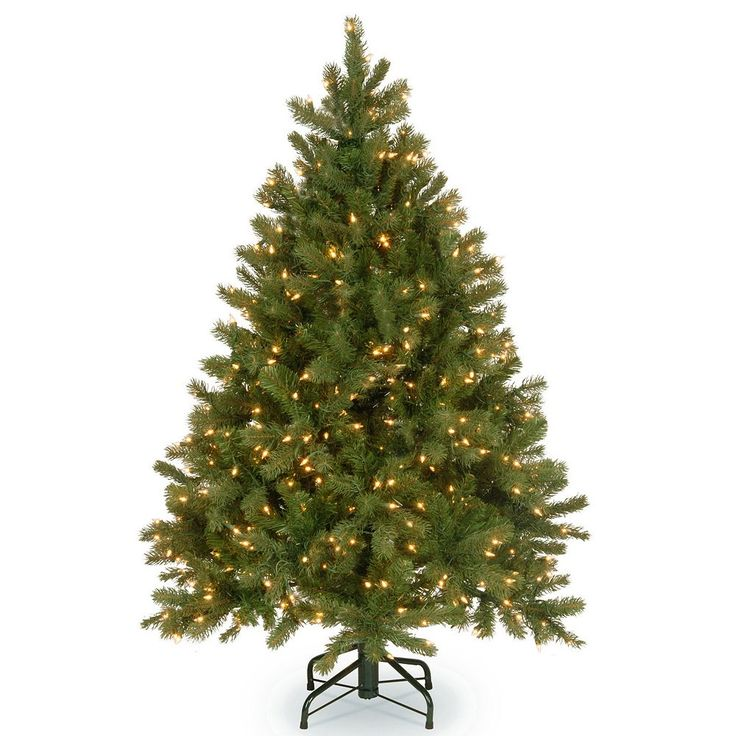 National Tree Company 4.5-ft. Douglas Fir Hinged Warm White Pre-Lit Artificial Christmas Tree, Green