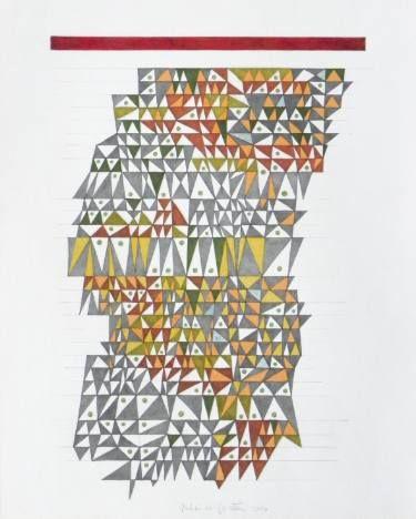 "Saatchi Art Artist Federico Cortese; Drawing, ""Tetris 3"" #art"