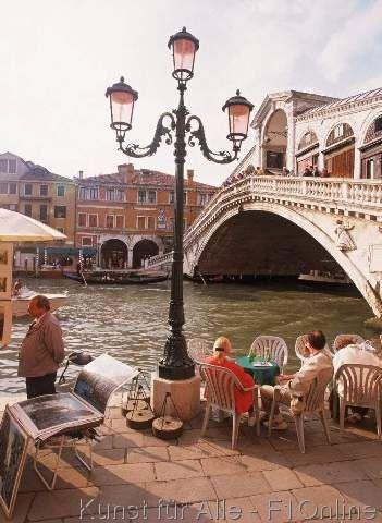 Nach draußen schauen, Rialtobrücke, Canale Grande, Käufer