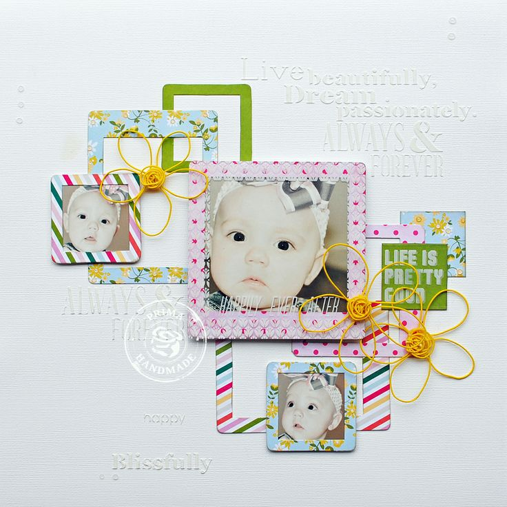 New products from Prima were used to make this layout - Scrapbook.com
