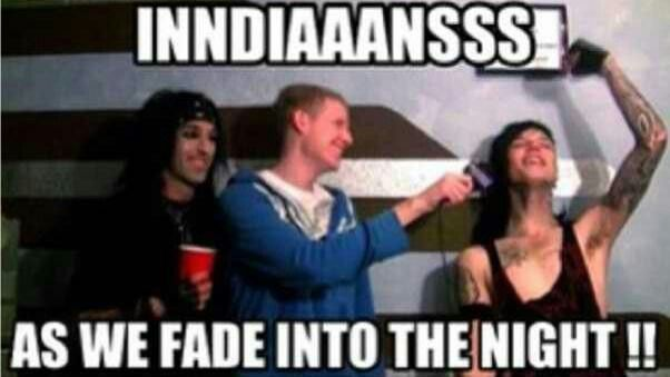 """Andy Ruined that song for me. Now whenever I listen to it I sing along all like """"INDIANS!"""" and people stare at me... XD"""