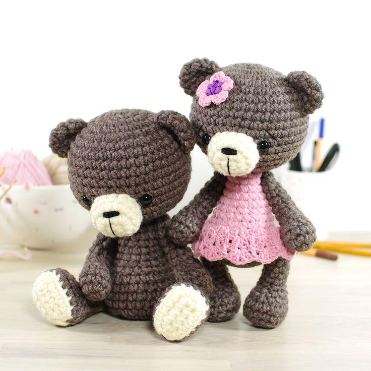 Crochet pattern: 4-way jointed small teddy bear // Kristi Tullus (spire.ee)
