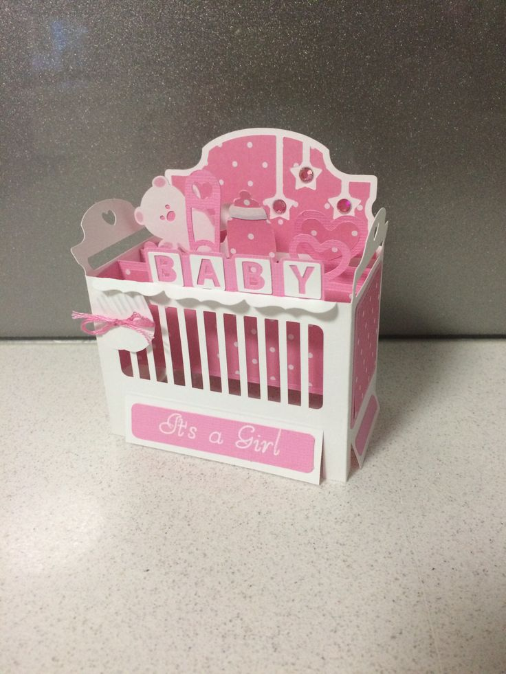 Baby Crib Cot Box Card Pattern From Svg Cuts Leah S