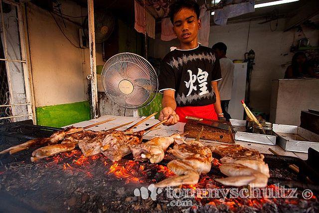 Grilled chicken (lechon manok) for sale at a market near the Surigao City port | Flickr - Photo Sharing!