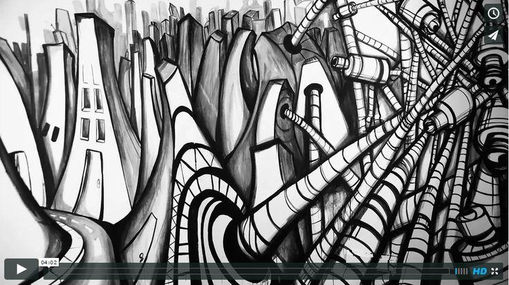 """https://flic.kr/p/xPAyhN   VideoCLIP Corporaciones   Un mural animado en stop motion, ilustra el primer videoclip del tema """"Corporaciones"""" de la Banda Bonaerense, """"Hecho en Casa"""".  Pintura, dirección y dirección de arte por: PickaBel  Dirección de Fotografía: Luisa Trochez (Fijación Fotografía)  Los invito a ver el video y compartirlo, está en VIMEO u Youtube  vimeo.com/136573421 www.youtube.com/watch?v=_SW_MJ6_e-E"""