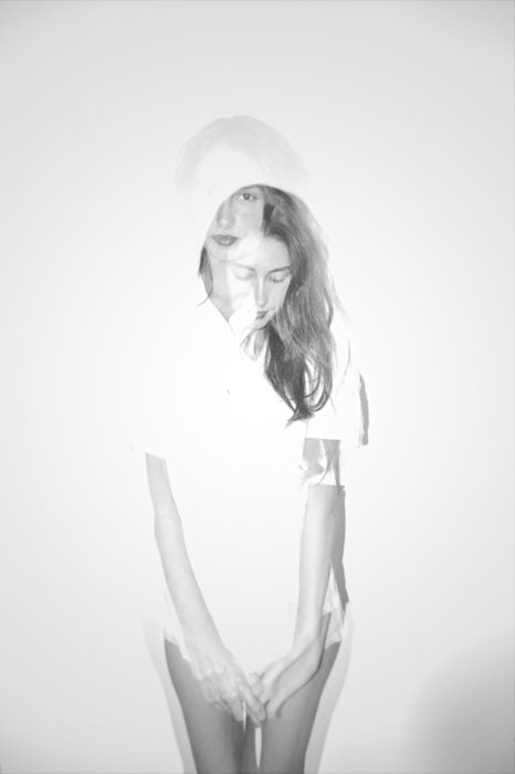 double exposed | mirror | image | beauty | girl | casual | pretty | love