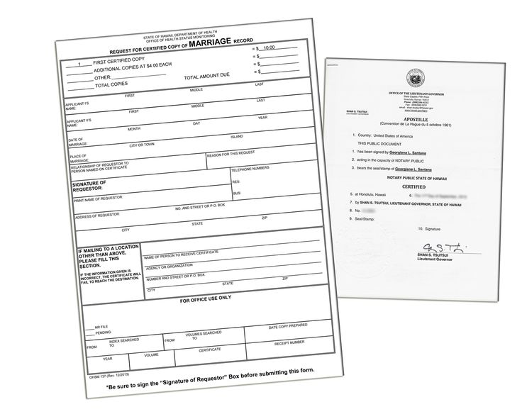 3 steps to obtain an apostille in Hawaii State of Hawaii Sample - copy chinese marriage certificate translation template