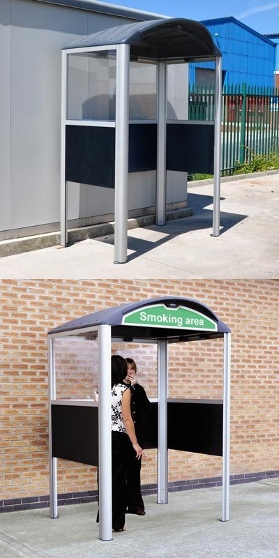 Modus™ Smoking Shelter is a fully compliant smoking shelter made from environmentally friendly materials. Available in 2 sizes - 770 Model and 1280 Model. #Shelter #SmokingShelter #GlasdonUK #EcigaretteShelter